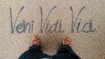 Widok z góry na buty